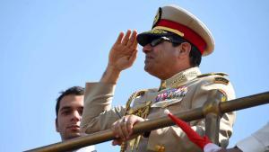 الرئيس المصري السيسي لدى افتتاح قناة السويس الجديدة. Foto: Reuters/The Egyptian Presidency