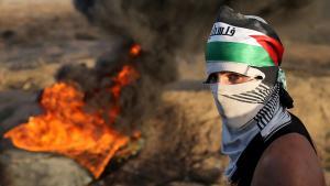 مواجهات على حدود غزة. Ausschreitungen an Israels Grenze zum Gazastreifen; Foto: REUTERS/Ibraheem Abu Mustafa