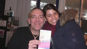 هاجر ليفين (يمين) وجيليس دوهيم يعملان في إدارة جمعية موروس 14 الخيرية. Foto: Igal Avidan