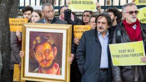مظاهرات في روما احتجاجاً على مقتل ريجيني. dpa