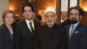 من جامعة مونستر الألمانية شيخ الأزهر وممثلون عن الإسلام والمسيحية يوجهون نداء سلام إلى العالم. Copyright: Peter Grewer