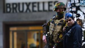 قوات الأمن البلجيكية بعد هجمات بروكسل. Foto: Getty Images/AFP/E.Dunand