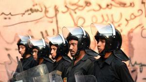 شرطي مصري في وسط القاهرة Foto: AFP