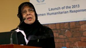 الحقوقية اليمنية حورية مشهور - وزيرة حقوق الإنسان السابقة في اليمن