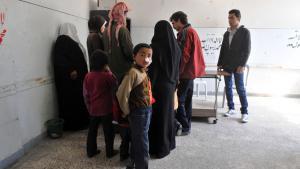 علاج مرض  الليشمانيا  في سوريا في حلب مارس/ آذار 2013. Foto: Getty Images/AFP/B. Kilic