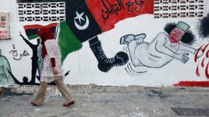 جدارية في طرابلس - ليبيا. Foto: AP