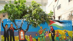 مسرح الحرية في مخيم جنين الفلسطيني للاجئين. (source: Freedom Theatre)