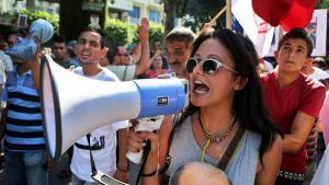 احتجاجات ضد الفساد في تونس. Foto: picture-alliance/dpa/M. Messara