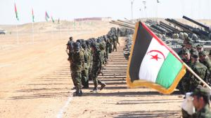عناصر مسلحة من جبهة البوليساريو في منطقة تيندوف في الجزائر . (photo: DW/Nour Elhayet El Kebir)