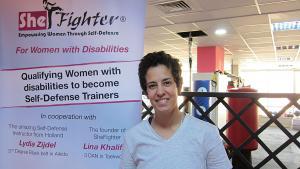 لينا خليفة مؤسسة مبادرة شي فايتَر للدفاع عن النفس. Foto: Claudia Mende