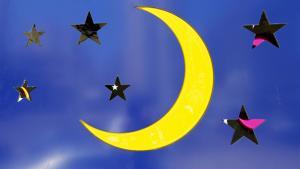 صورة رمزية - هلال رمضان.  Foto: picture-alliance/dpa/N. Mounzer
