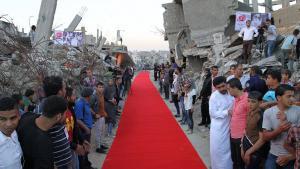 مهرجان كرامة لأفلام حقوق الإنسان في غزة. Foto: Lama Film