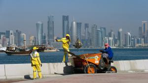 عمال آسيويون في الدوحة - قطر. Foto: picture/dpa