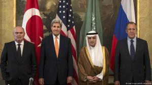من جلسة مفاوضات حول سوريا