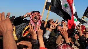 احتجاجات السُّنة في الفلوجة العراقية 28 / 12 / 2012.  Foto: Karim Kadim/AP
