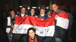 من نشطاء الديمقراطية في مصر عام 2011. Foto: DW/Hebatallah Ismail Hafez