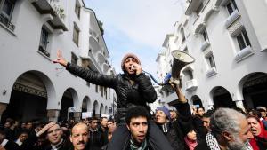 احتجاجات مطالبة بالإصلاح في الرباط بالمغرب عام 2011 في إطار حراك الربيع العربي.  (photo: picture-alliance/dpa)