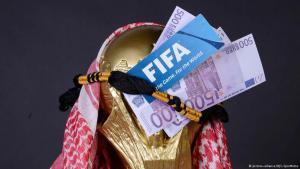 صورة رمزية عن استضافة قطر لبطولة كأس العالم 2022