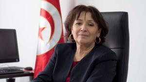 الصحفية والناشطة الحقوقية التونسية سهام بن سدرين. Foto: Sarah Mersch