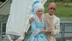 أمير عربي وأميرة ألمانية في مسرحية اندماجية في ألمانيا