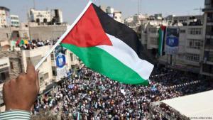 مظاهرة فلسطينية في الضفة الغربية