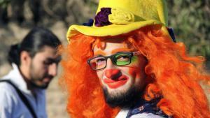 أنس الباشا: مصرع مهرّج حلب الأخير في قصف جوي...حين تموت الضحكة. Foto: AP