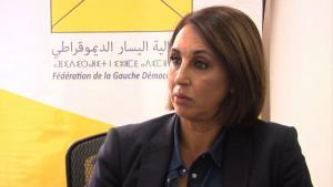 الأمينة العامة للحزب الاشتراكي الموحد نبيلة منيب الصورة: youtube