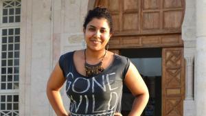 مغنية الراب التونسية بثينة العلوادي في تونس. Foto: Julia Neumann