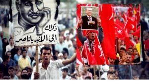 أنصار إردوغان. رويترز - وأنصار جمال عبد الناصر: صورة بالألوان لجنازة عبد الناصر 1970، تصوير برونو باربي