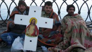 محتجون أقباط في مصر من أجل حقوقهم.