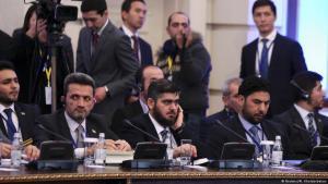مفاوضات جنيف والأستانة بشأن سوريا، في الصورة الوفد السوري في الأستانة (photo: Reuters/Mukhtar Kholdorbekov)