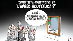 """كاريكاتير """"حقبة ما بعد بوتفليقة"""".  Quelle: """"El Watan"""" 15.05.2016"""