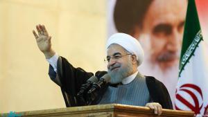 حسن روحاني في خطاب ألقاه عند ضريح الخميني في الأول من مايو/ أيار 2017. Foto: jamaran.ir