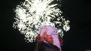 إيرانيون يحتفلون في طهران بفوز روحاني في انتخابات2017. Foto: Tasnim