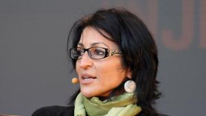 الكاتبة الفلسطينية الأمريكية سوزان أبو الهوى. (photo: decltype; http://en.wikipedia.org/User:Decltype)
