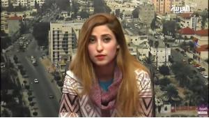 ريهام الكحلوت ممثلة كوميدية فلسطينية Reham al-Kahlout  -  Screen shot Al-Arabiya