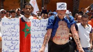 مظاهرة تضامنا مع ضحايا قمع السلطات لحراك الريف. الصورة رويترز