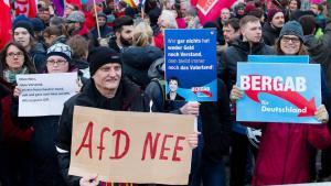 """مظاهرة ضد حزب """"البديل من أجل ألمانيا"""" اليميني الشعبوي في ألمانيا. Foto: dpa"""