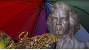تمثال الموسيقار بيتهوفن في مهرجان بيتهوفن 2017 بمدينة بون الألمانية. DW
