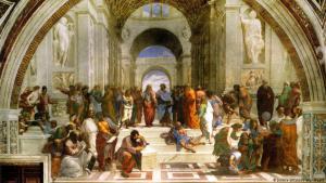 الحوار كان حاضرا في مدرسة الفلسفة اليونانية القديمة