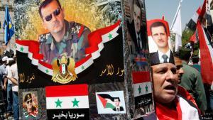 """""""أتباع دكتاتورية البعث في دمشق خلال مسيرة موالية للأسد. Foto: Reuters"""