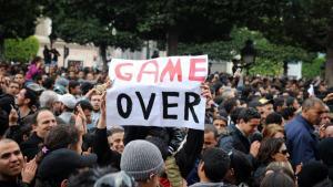 مظاهرات ضد نظام بن علي في تونس. Foto: Fethi Belaid/AFP