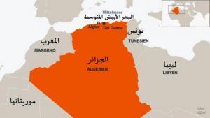 خريطة الدول المغاربية - الجزائر ، ليبيا ، تونس ، المغرب ، موريتانيا