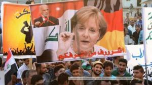 احتجاجات في العراق ضد فساد الحكومة - تمدح ميركل.