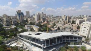 مركز التسامح في القدس قيد الإنشاء.   (photo: Simon Wiesenthal Center)