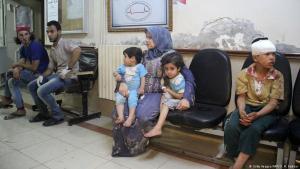 مستشفى في محافظة إدلب السورية. Foto: MAR HAJ KADOUR/AFP/Getty Images