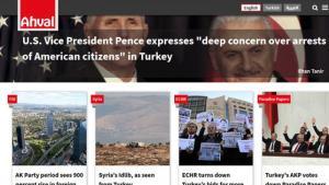 """صورة عن شاشة النسخة الإنكليزية لموقع """"أحوال تركية"""" الإخباري - تركي إنكليزي عربي. """"Quelle: """"Ahval"""