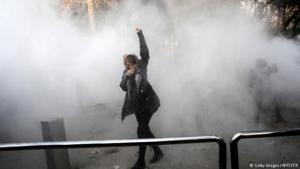 احتجاجات ضد الحكومة في طهران. Foto: Getty Images/AFP/STR