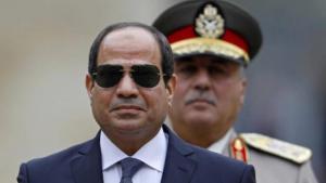 الرئيس المصري السيسي خلال زيارته لفرنسا . الصورة ب د ا واي بي دي
