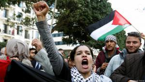 احتجاجات في تونس على اعتراف ترامب بالقدس عاصمة لإسرائيل. Foto: Reuters